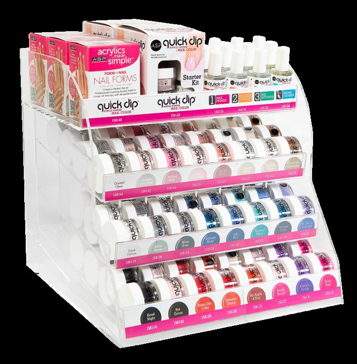 Quick Dip Nail Color Display