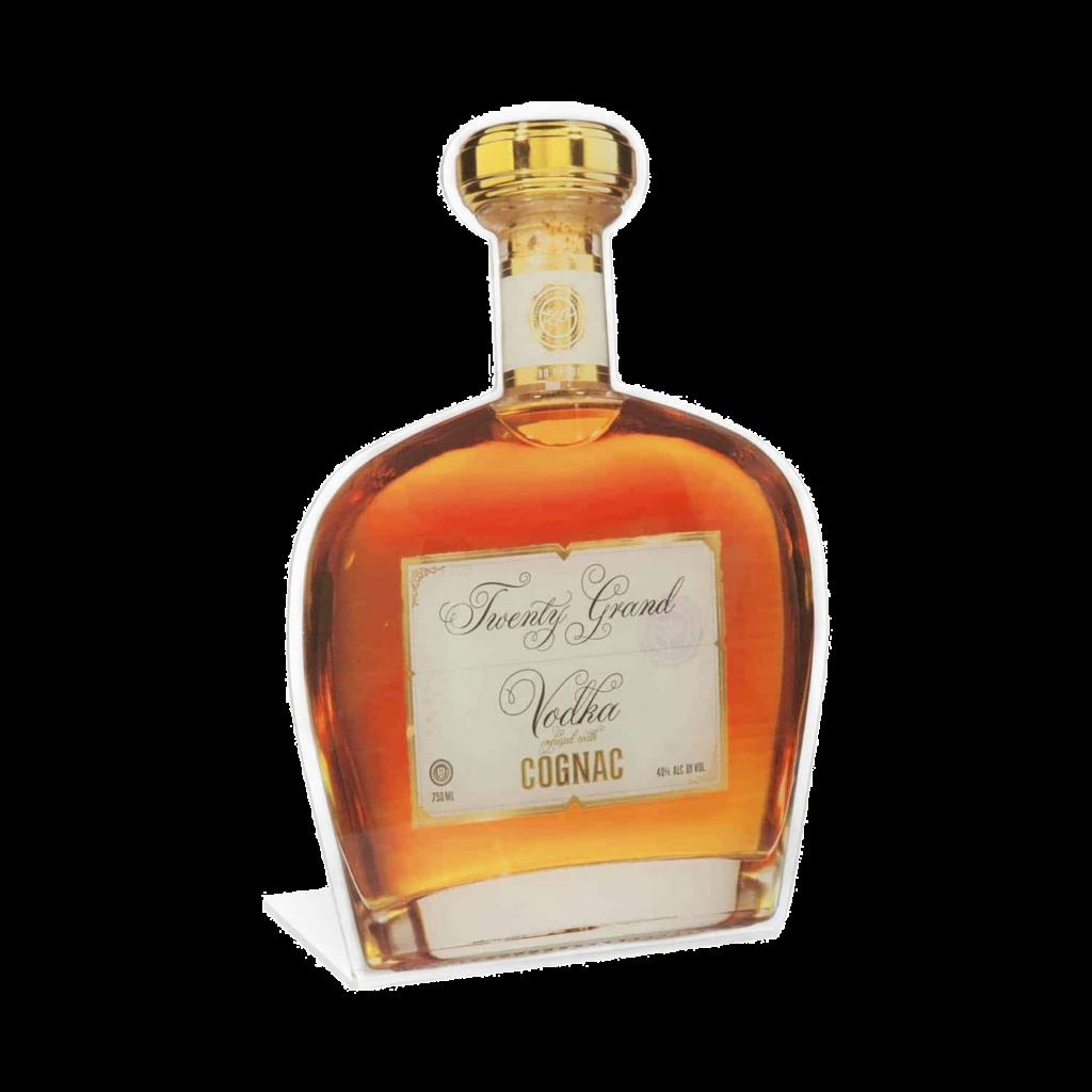 Cognac Plastic Stand Up